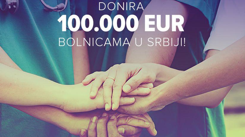 Mozzart donirao 100.000 evra bolnicama