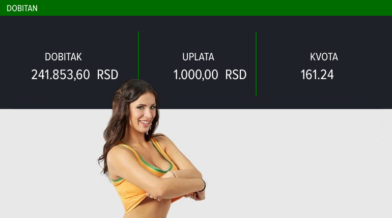 LUDI TIKET, ponedeljak, 241.853 dinara: Ekspert za golove